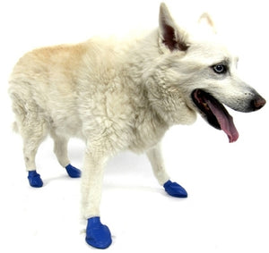 Disposable-Reusable Dog Boots in Medium Blue
