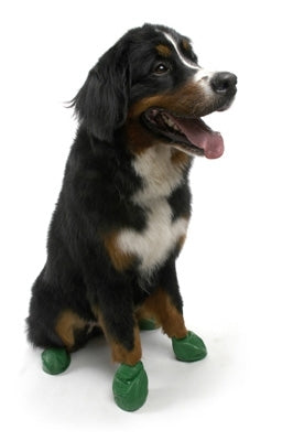 Disposable-Reusable Dog Boots in XLarge Green