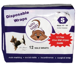 Male Dog Disposable Wraps
