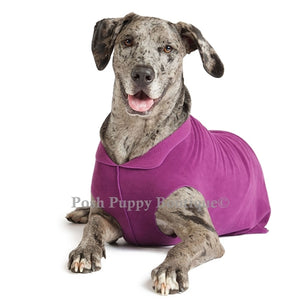 Eggplant Eco-friendly Dog Cozy Fleece Coat
