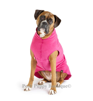 Fuchsia Eco-friendly Dog Cozy Fleece Coat