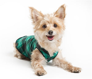 Wintergreen Plaid Eco-friendly Dog Cozy Fleece Coat