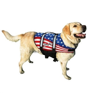 Neoprene Doggy Life Jacket - American Flag
