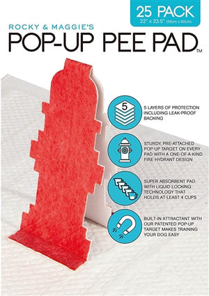 Pop-Up Pee Pad - 25 Pack