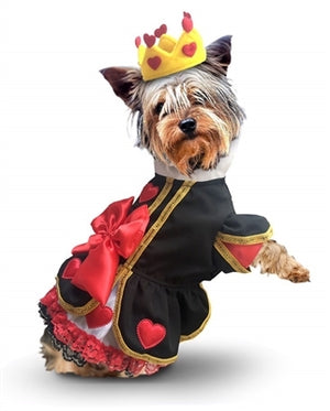 Big Bow and Hearts Queen Dress Dog Costume