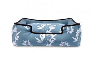 Bamboo Lounge Bed in Ocean Blue and Black