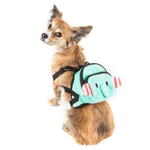 Dumbone Dual Pocketed Compartmental Animated Dog Harness Backpack - Blue