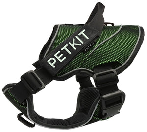Petkit Air Quad Connecting Dog Harness in Green and Blue