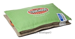 Green Touchdog Sporty Shock-Stitched Reversible Rectangular Thick Dog Mat