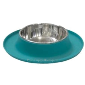 Single Bowl Silicone Feeders with Stainless Bowl- Blue
