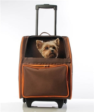 RIO Rolling Dog Carrier- Orange Zest