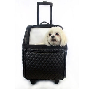 RIO Rolling Dog Carrier- Quilted Luxe Black