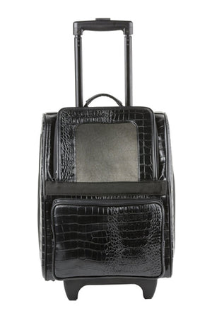 Rio Bag On Wheels Carrier Bag - Black Croco