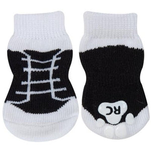 Anti-Slip Socks- Black Sneakers