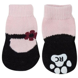 Anti-Slip Socks- Pink Mary Janes