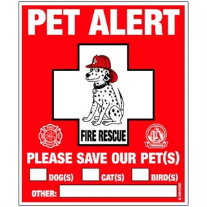 Rescue Rover Pet Alert Fire Safety Static Cling Decal