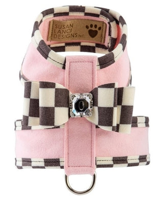 Susan Lanci Windsor Check Trim Two Tone Tinkie Harness in Many Colors