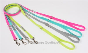 "Susan Lanci Crystal Rock Collection Dog 1-2"" Leash in Many Colors"