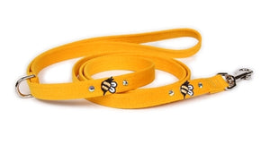 Susan Lanci Bees Collection Ultrasuede Dog Leashes - Five Colors