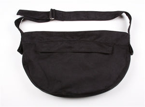Susan Lanci Luxe Suede Cuddle Carrier- Black