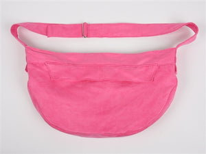 Susan Lanci Luxe Suede Cuddle Carrier in Perfect Pink