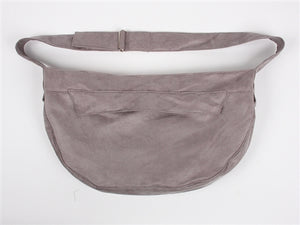 Susan Lanci Luxe Suede Cuddle Carrier in Platinum