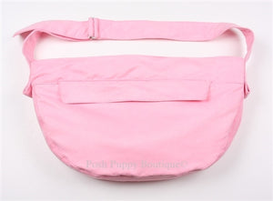 Susan Lanci Luxe Suede Cuddle Carrier in Pink