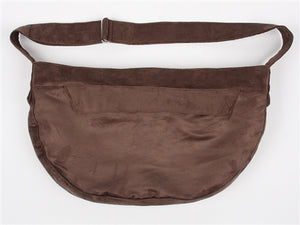 Susan Lanci Luxe Suede Cuddle Carrier in Taupe