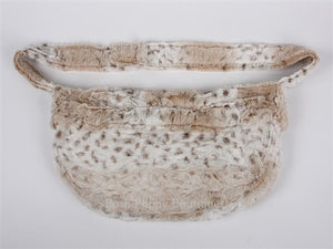 Susan Lanci Soft Snow Leopard Faux Fur Cuddle Carrier