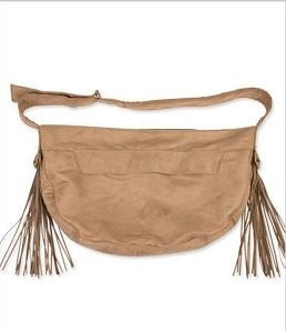 Susan Lanci Luxe Suede Fringe Cuddle Carrier in Five Colors