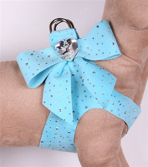 Susan Lanci Stardust With Tail Bow Heart Step-In Harnesses - In Many Colors