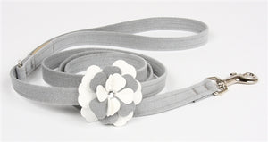Susan Lanci Special Occasion Collection Ultrasuede Dog Leashes - Platinum or Puppy Pink