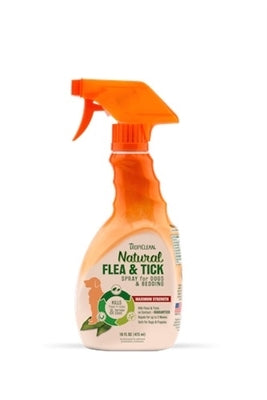 TropiClean Flea and Tick Spray for Pets - 16oz