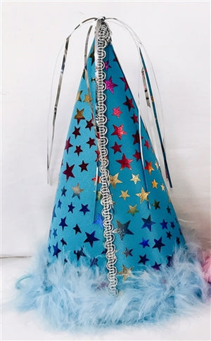Blue Star Party Hat