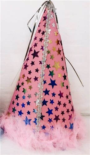 Pink Star Party Hat