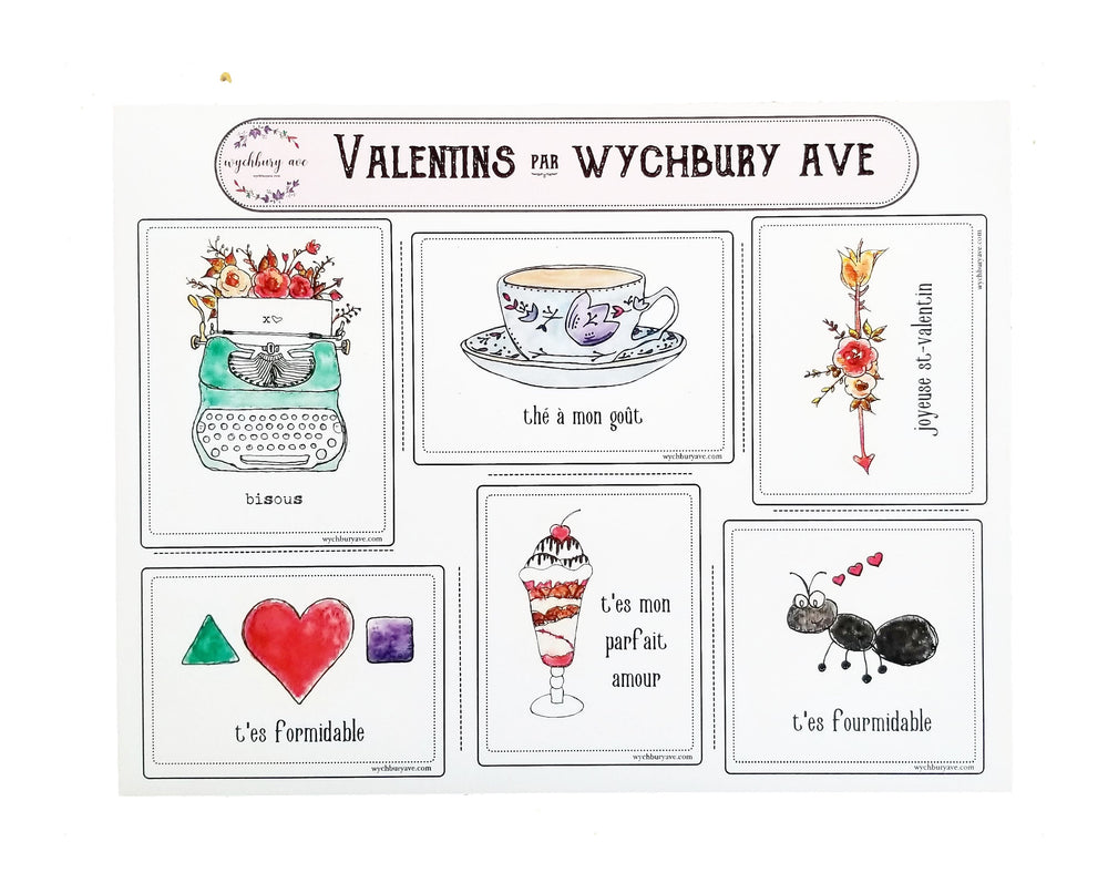French Valentines with Puns | French Puns | Cartes de Saint-Valentin