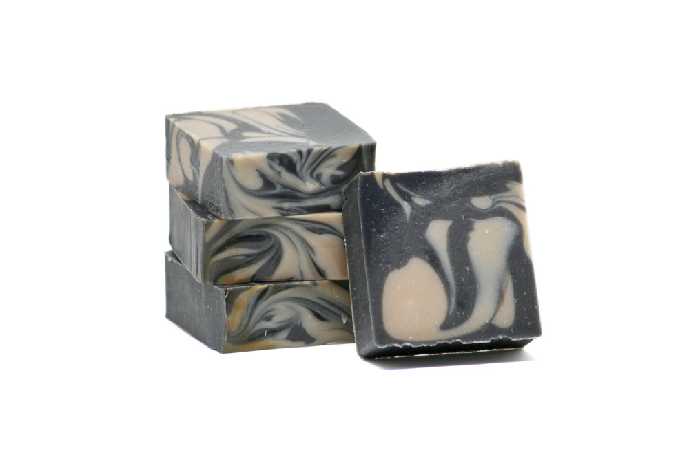 Load image into Gallery viewer, Charcoal Shaving Bar | Unscented Natural Shaving Soap | Activated Charcoal Shave Bar
