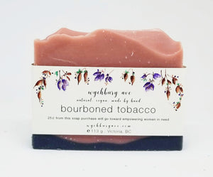 Wychbury Ave Bourboned Tobacco Handmade Bar Soap with Activated Charcoal