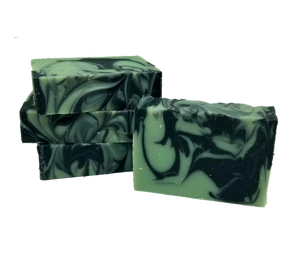 Peppermint Twist Vegan Palm-free Bar Soap | Peppermint Soap with Activated Charcoal