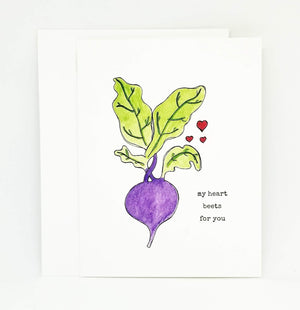 Load image into Gallery viewer, Beet Valentine's Day Card | Punny Beet Valentine