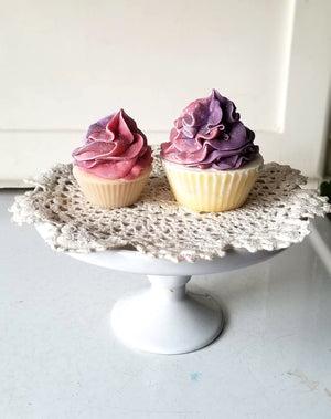 Load image into Gallery viewer, Black Raspberry Vanilla Mini Cupcake Soap | Soap Cupcake Wedding Favour