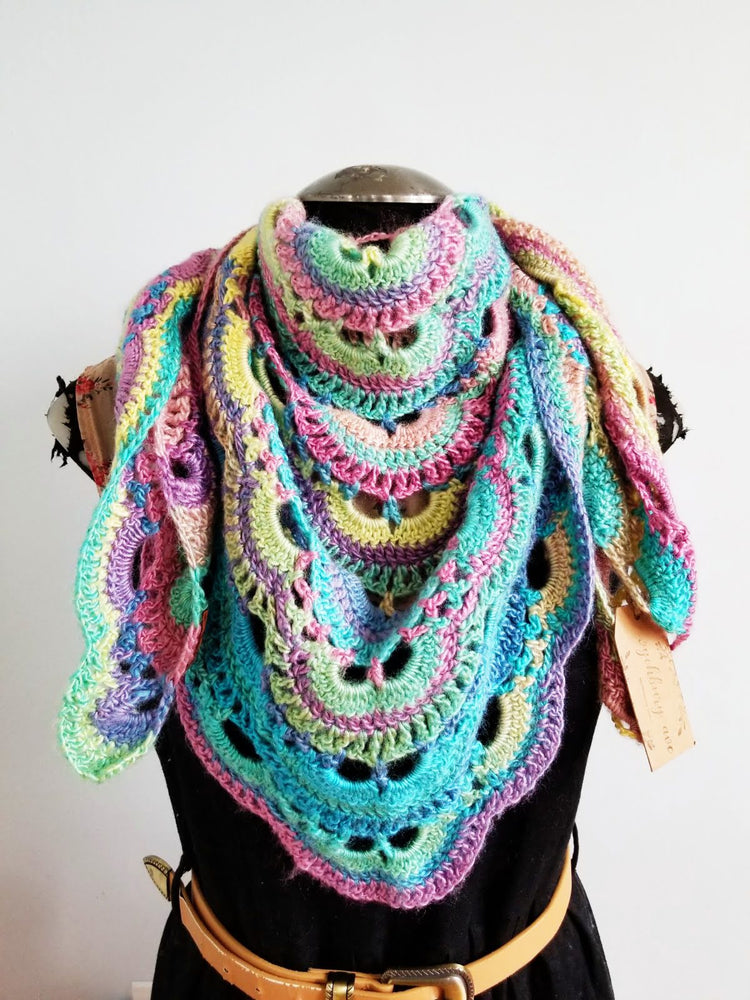 Cotton Candy Reversible Shawl & Scarf