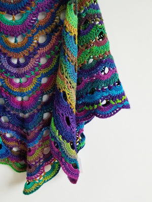 Load image into Gallery viewer, Aurora Borealis Reversible Shawl & Scarf