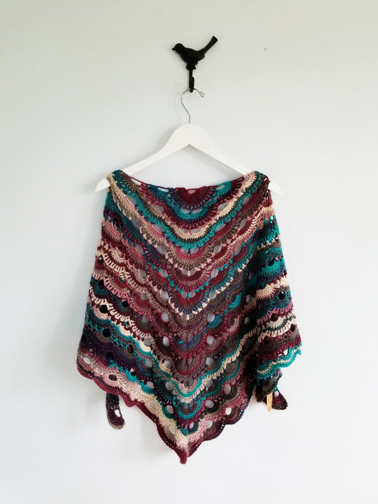 Partridge Berry Crochet Scarf & Shawl