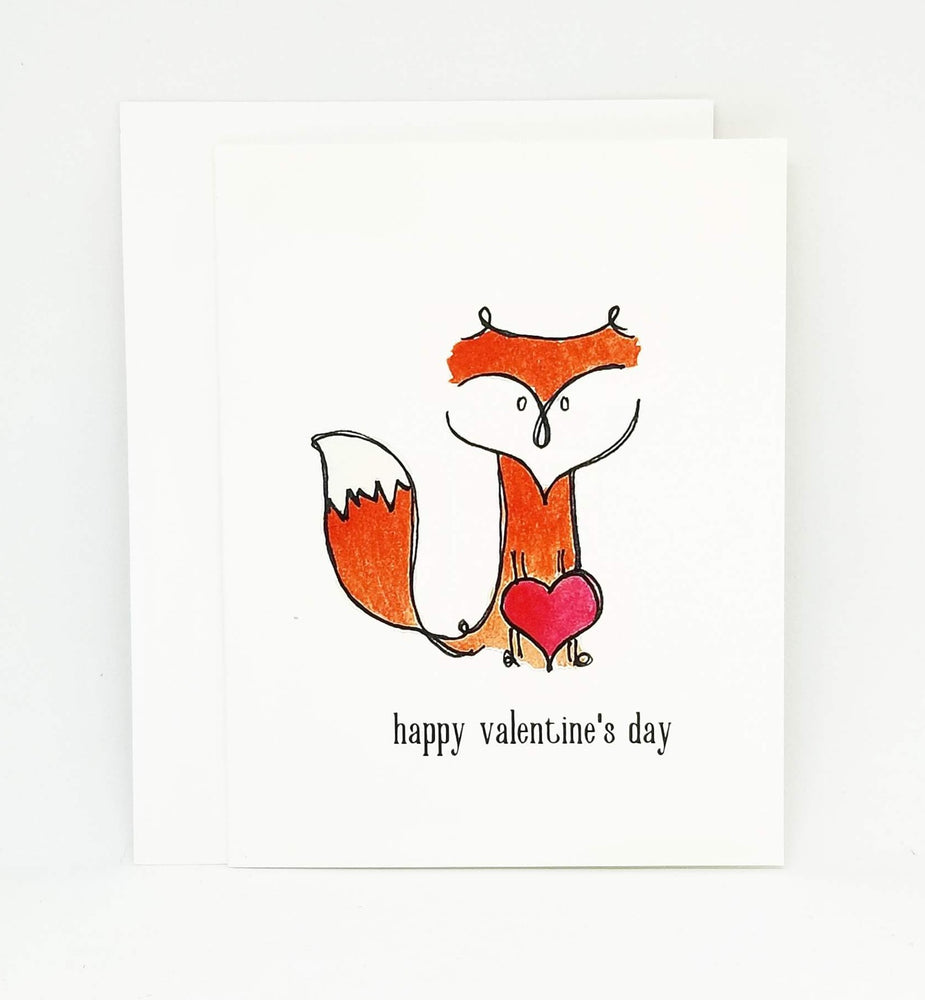Foxy Valentine's Day Card | Animal Valentine Greeting Card