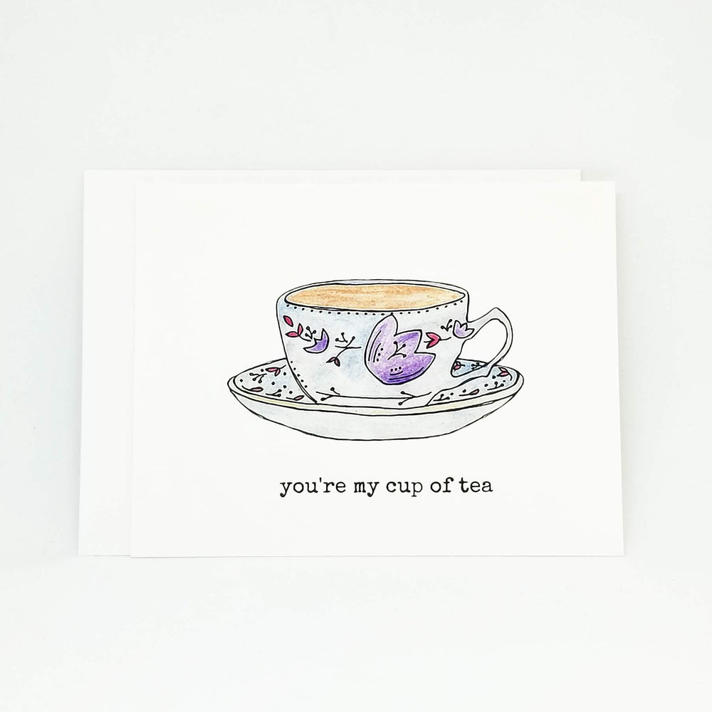 Cup of Tea Greeting Card | Valentine Card for Tea Lovers