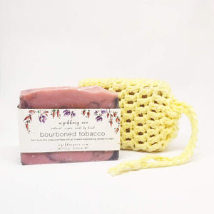 Soap & Cloth Set | Soap Saver with Bar Soap Set | Soap on a Rope