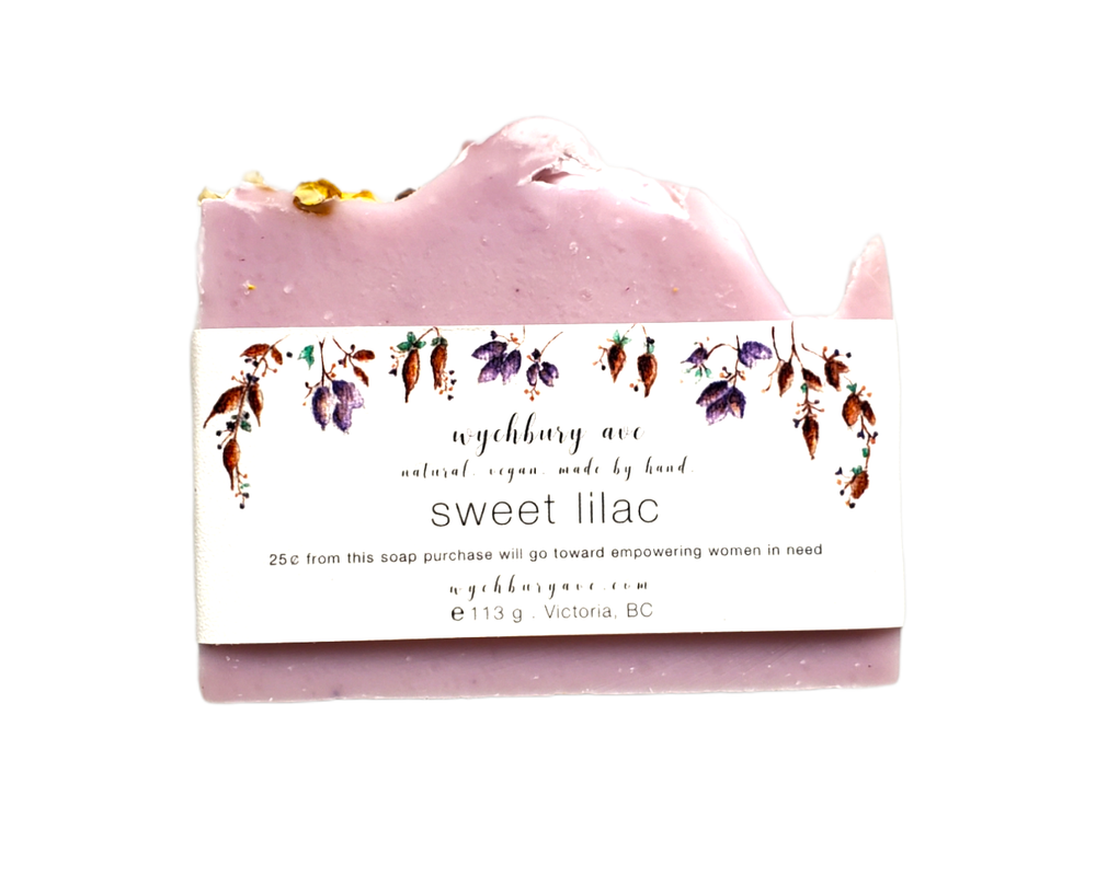 Sweet Lilac Bar Soap | Handmade Lilac Bar Soap