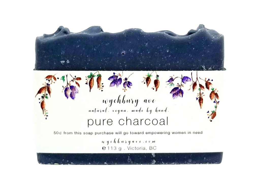 Pure Charcoal Bar Soap | Unscented Activated Charcoal Soap | Facial Bar