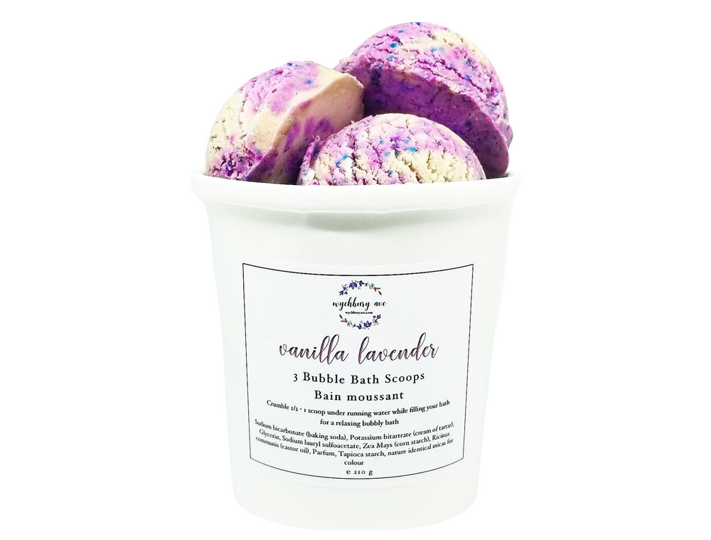 Vanilla Lavender Solid Bubble Bath | Environmentally Friendly Bubble Bars